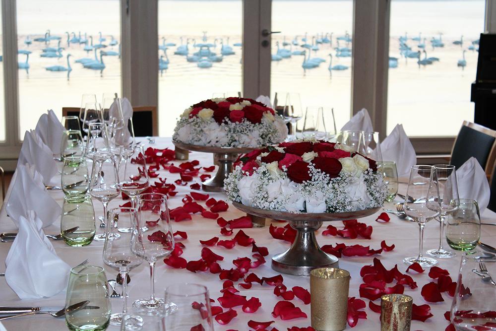 Hochzeitsfeierlichkeiten-Tischschmuck